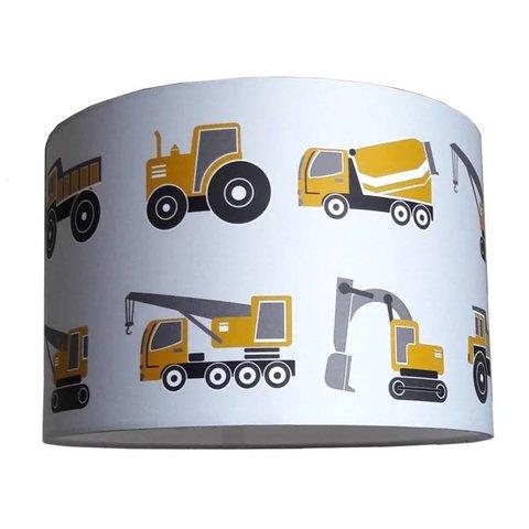 Designed4Kids kinderlamp voertuigen oker geel