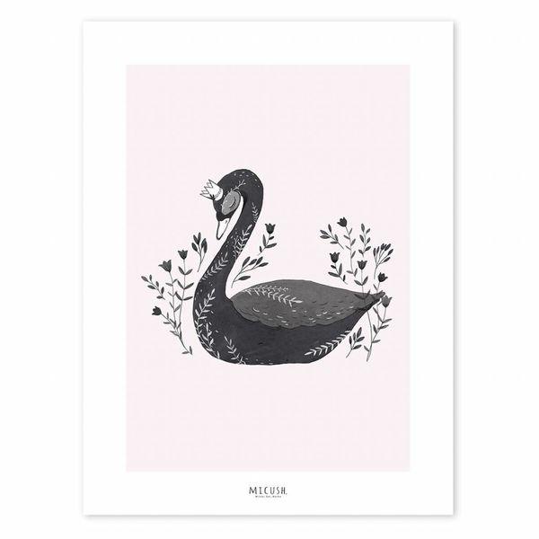 Lilipinso Lilipinso poster zwaan zwart