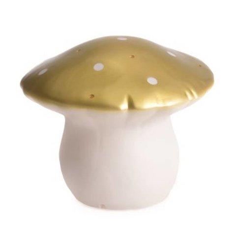 Figuurlamp vliegenzwam goud klein