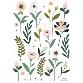 Lilipinso Lilipinso muursticker  bloemen Wonderland