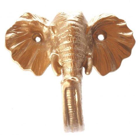 La Finesse wandhaakje olifant goud