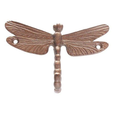 La Finesse wandhaakje libelle brons
