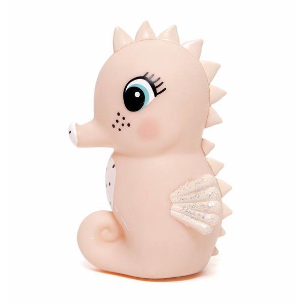 Petit Monkey Petit Monkey nachtlampje zeepaardje roze light peach
