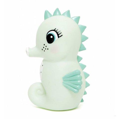 Petit Monkey nachtlampje zeepaardje mint