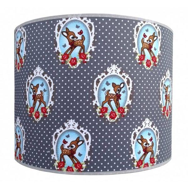 Juul Design Juul Design kinderlamp hertje Deer with Butterfly grijs