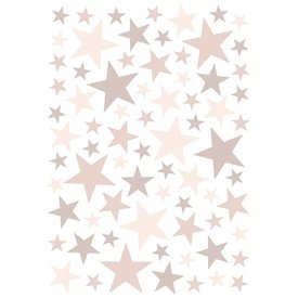 Lilipinso Lilipinso muursticker sterren roze Dusty Pink