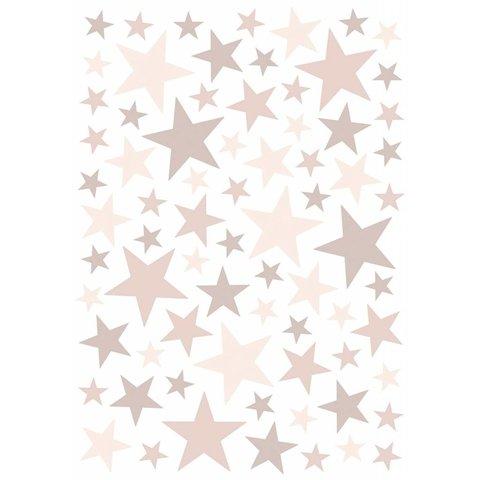 Lilipinso muursticker sterren roze Dusty Pink