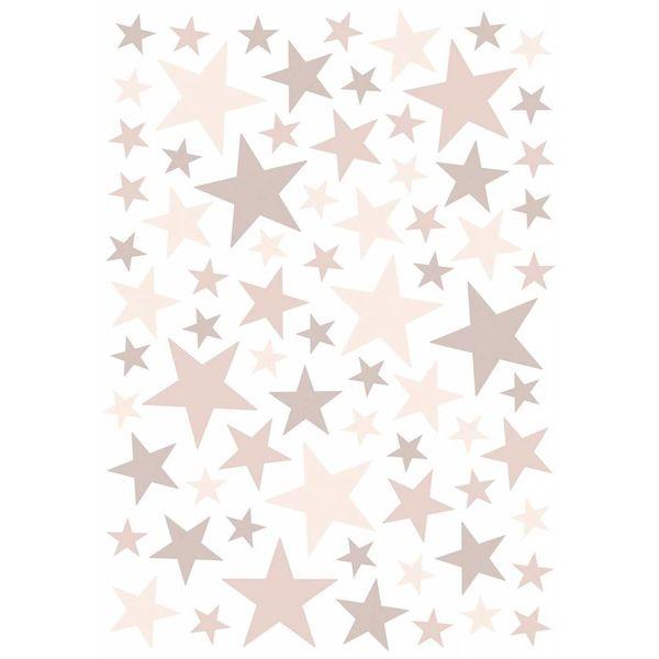Lilipinso Lilipinso muursticker sterren Dusty Pink