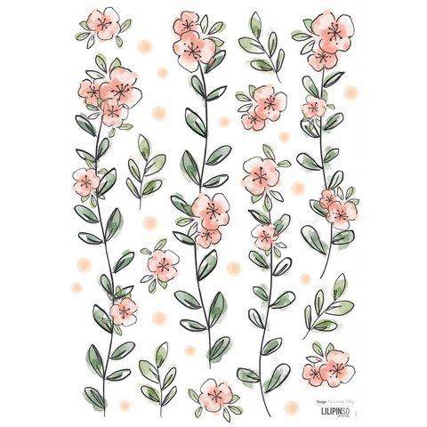 Lilipinso muursticker romantische bloemen slinger