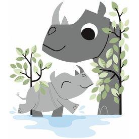 Lilipinso Lilipinso muursticker neushoorns