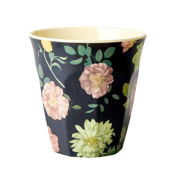 rice Denmark Rice melamine beker bloemen Dark Rose print