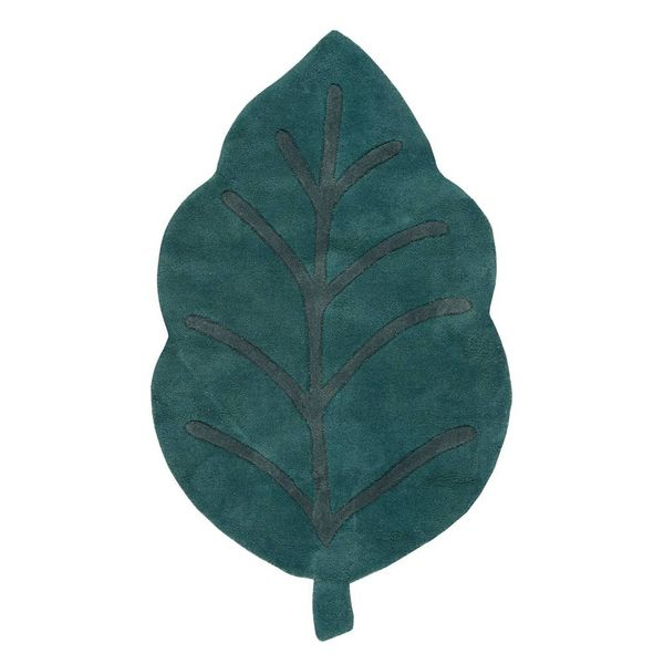 Lilipinso Lilipinso kindervloerkleed blad groen Feuille