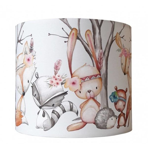 Designed4Kids Designed4kids wandlamp bosdieren Forest Friends boho