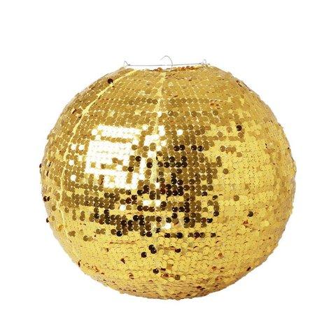 Rice hanglamp pailletten goud