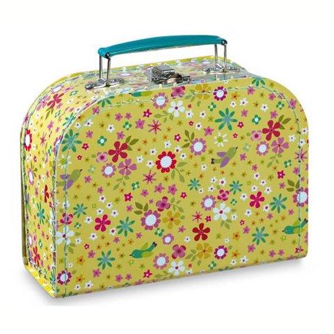 Mini labo koffertje bloemen en vogels geel