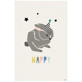 Mimi'lou Mimilou poster konijn Happy