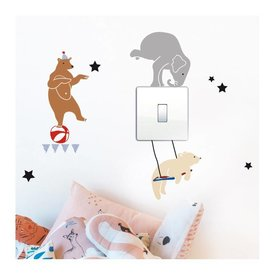 Mimi'lou Mimilou mini muurstickers Circus on Light