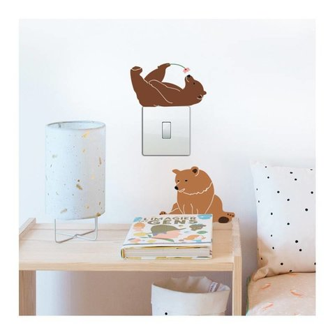 Mimi'lou mini muurstickers beren Lazy Bears