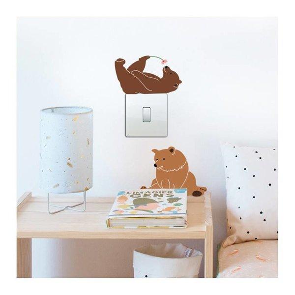 Mimi'lou Mimilou mini muurstickers beren Lazy Bears