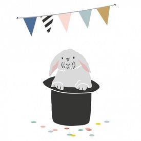 Mimi'lou Mimilou mini muurstickers konijn Lapin Lapin