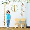 Decowall muursticker meetlat palmboom en aapjes