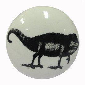 La Finesse La Finesse kastknopje wit met zwarte kameleon