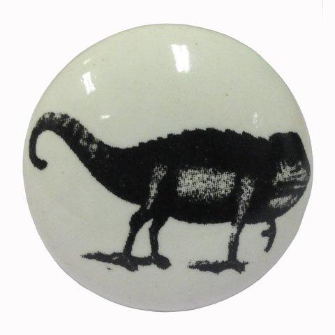 La Finesse kastknopje wit met zwarte kameleon