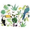 Djeco raamsticker kinderkamer  jungle