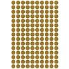 Lilipinso muursticker kinderkamer stippen goud mat