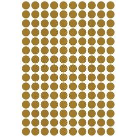 Lilipinso Lilipinso muursticker stippen goud mat