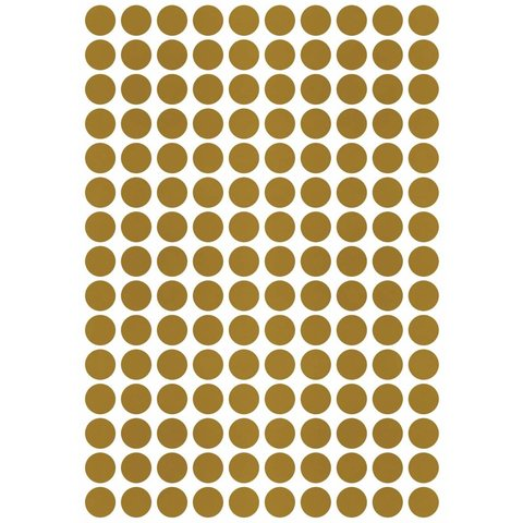 Lilipinso muursticker stippen goud mat