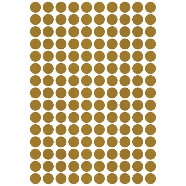 Lilipinso Lilipinso muursticker kinderkamer stippen goud mat