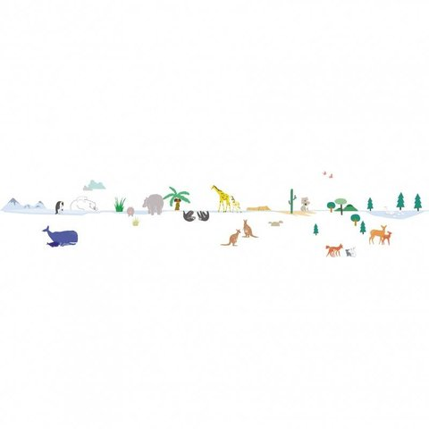 Mimilou muursticker Around the World