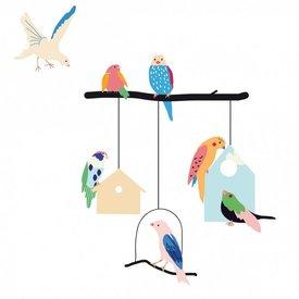 Mimi'lou Mimilou muursticker vogels en vogelhuisjes