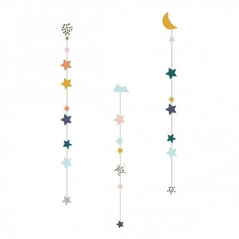 Mimilou muursticker decoratie slinger maan en sterren