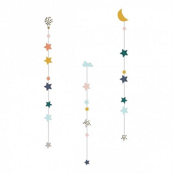 Mimi'lou Mimilou muursticker kinderkamer maan en sterren