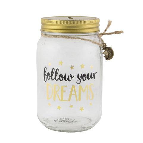 Sass & Belle spaarpot  Follow your Dreams
