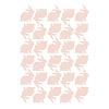 Lilipinso muursticker kinderkamer konijntjes roze blossom pink