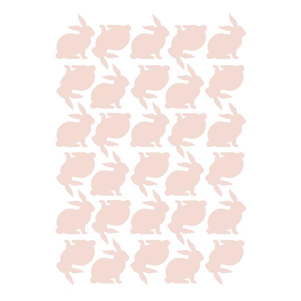 Lilipinso Lilipinso muursticker kinderkamer konijntjes roze blossom pink