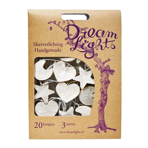 Dreamlights lichtslinger maan, hart, ster wit