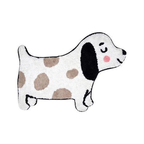 Kindervloerkleed mini hondje zwart wit