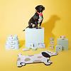 Sass & Belle vloerkleedje mini hond zwart wit