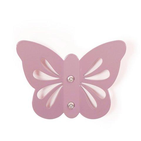 Roommate kinderkapstok vlinder paars