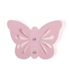 Roommate Roommate kinderkapstok vlinder roze