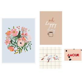 Mimi'lou Mimilou posters Amour (Set van 4)