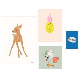 Mimi'lou Mimilou posters Love (Set van 4)