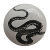 La Finesse kastknopje wit met zwarte slang