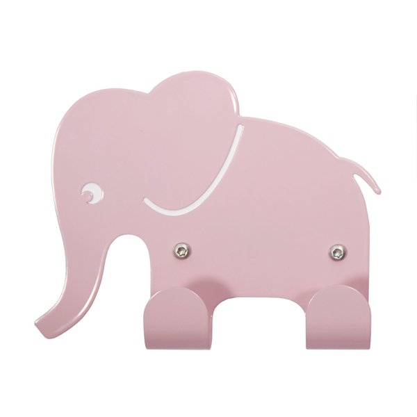 Roommate Roommate kinderkapstok olifant roze
