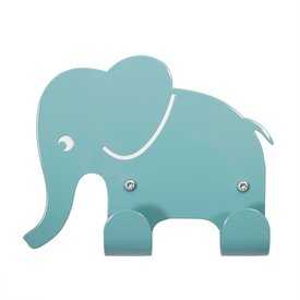 Roommate Roommate kinderkapstokje olifant lichtblauw
