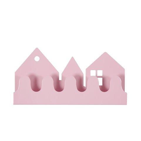 Roommate kinderkapstok huisjes village roze